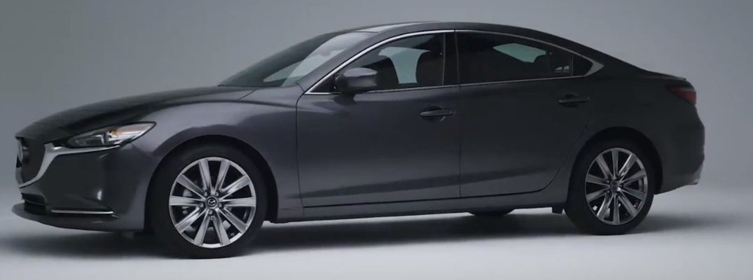 2018 Mazda6 Side View of Gray Exterior