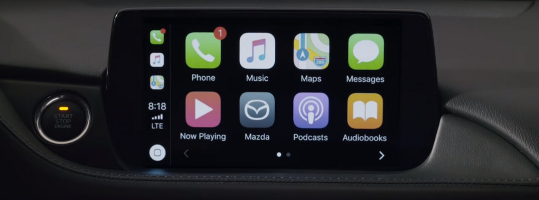Apple CarPlay Display in a Mazda Car