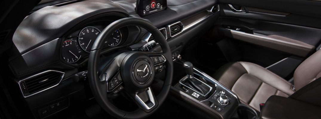 front interior of 2019 mazda cx-5 including steering wheel