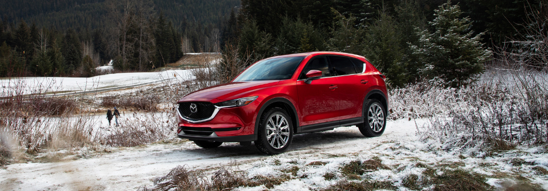 2019 Mazda CX-5 Front Diagonal View of Red Exterior