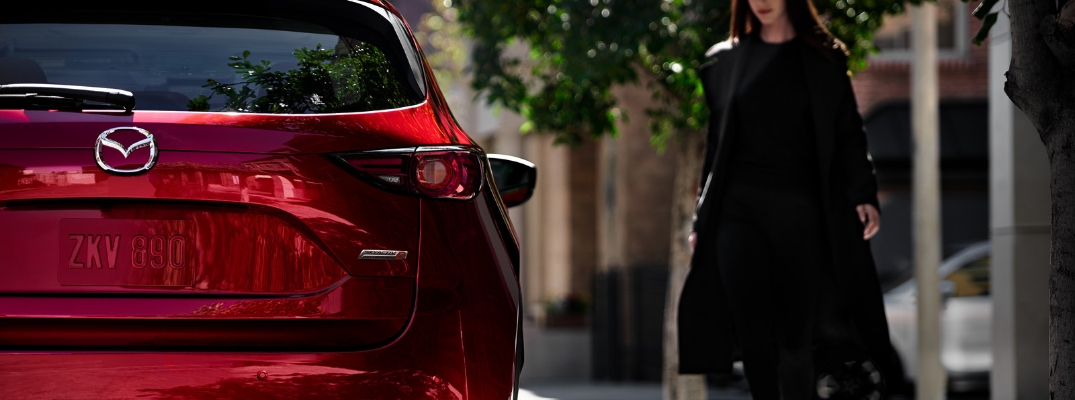 Closeup rear view of red 2019 Mazda CX-5