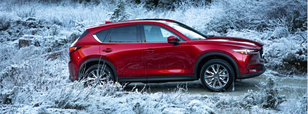 Red 2019 Mazda CX-5 in snow