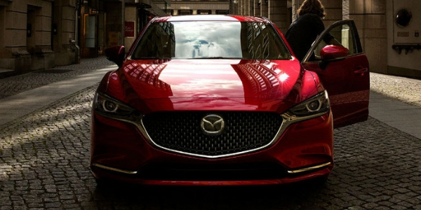 Front view of red 2019 Mazda6