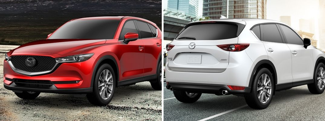 Red 2019 Mazda CX-5 Grand Touring and white 2019 Mazda CX-5 Grand Touring Reserve