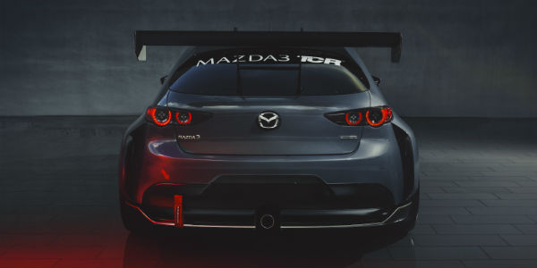 Rear view of Mazda3 TCR