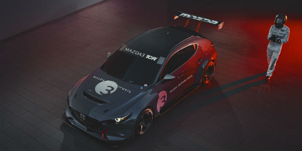 Overhead view of Mazda3 TCR