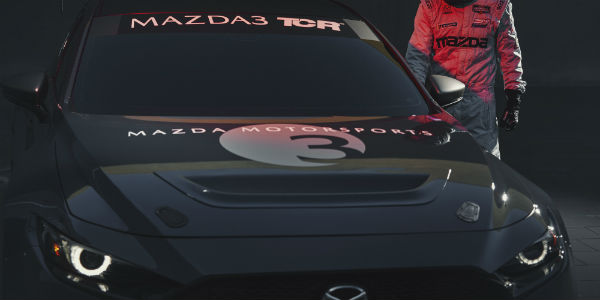 Closeup of Mazda3 TCR