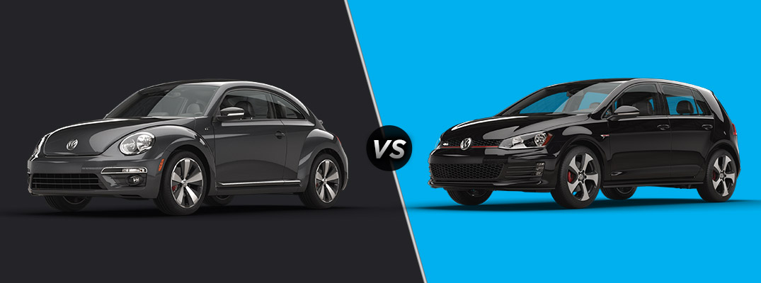 differences between 2016 vw beetle r-line vs 2016 vw golf gti