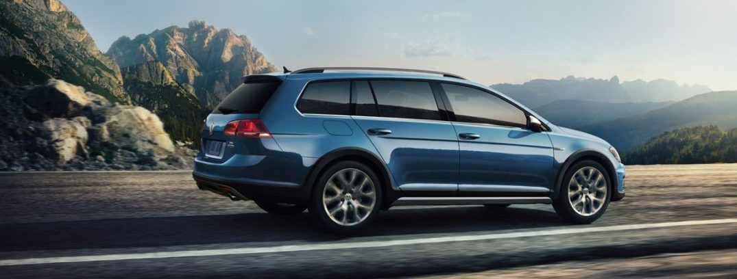 2017 vw golf alltrack exterior blue