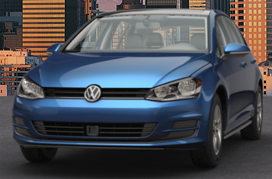 2017 VW Golf Silk Blue Metallic