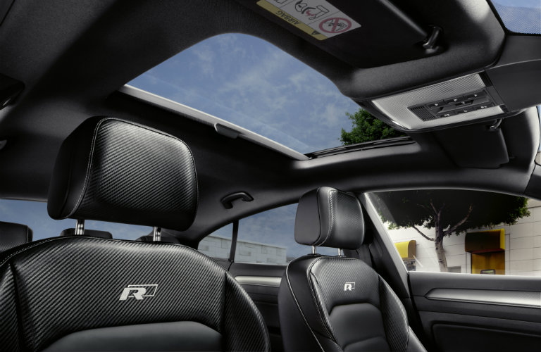 volkswagen arteon interior, black seats, sun roof