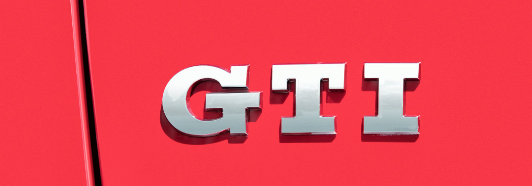 closeup of GTI logo