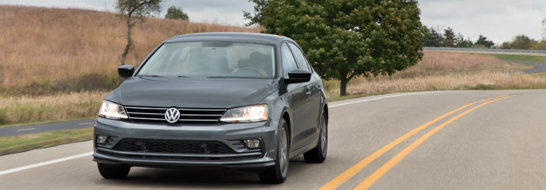 2018 Volkswagen Jetta driving down the road