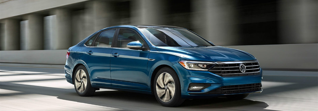 2019 Volkswagen Jetta driving down a highway