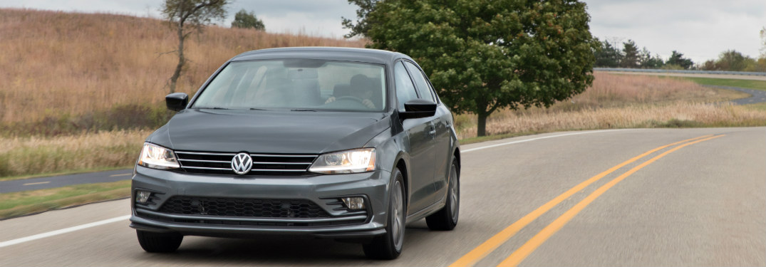 2019 Volkswagen Jetta driving down a country highway