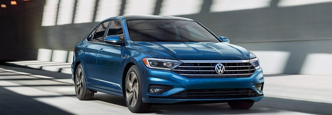 2019 Volkswagen Jetta driving down a tunnel