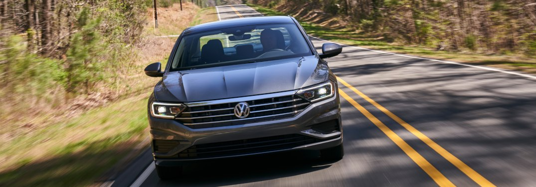 2019 Volkswagen Jetta driving on a rural road
