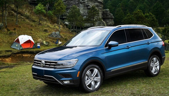 2019 Volkswagen Tiguan parked at a camp site