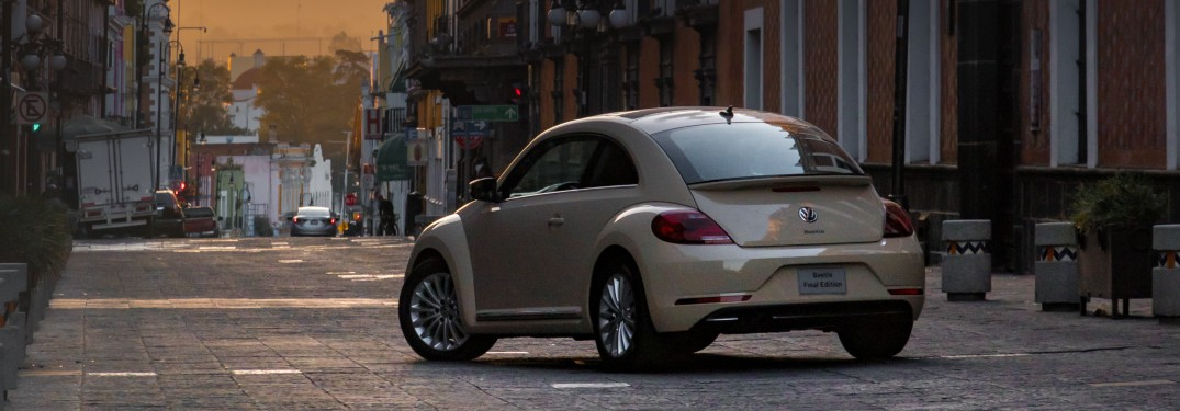 2019 Volkswagen Beetle parked on a city street