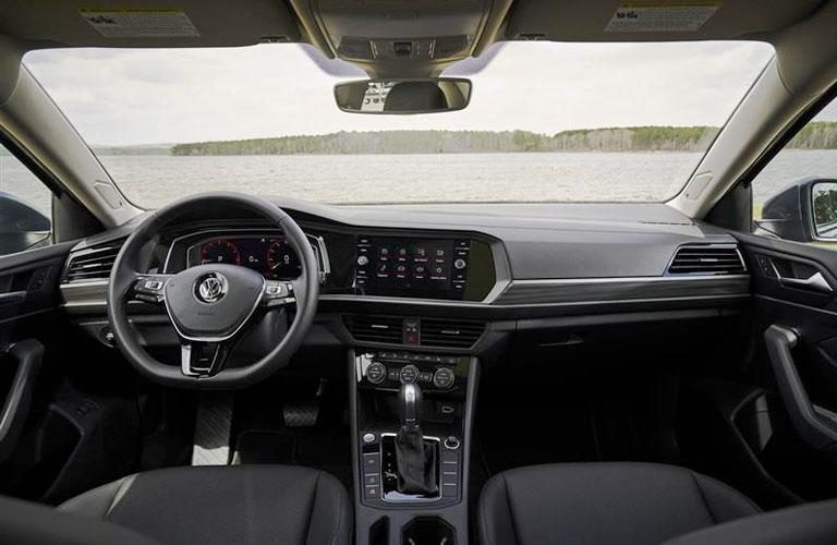 An interior view of a 2020 Volkswagen Jetta.