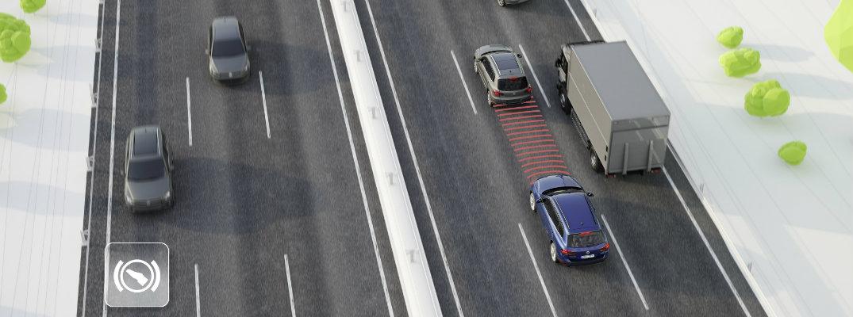 Volkswagen Adaptive Cruise Control demonstration overhead
