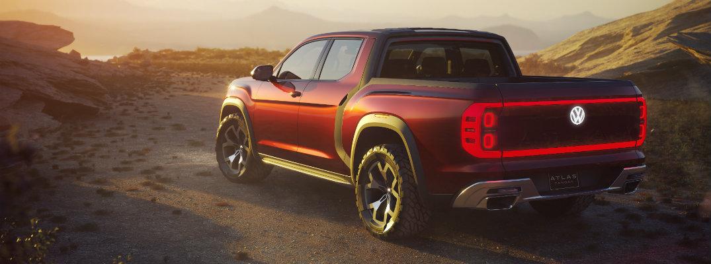 Volkswagen New Truck >> Vw Atlas Tanoak Pickup Truck Concept Photo Gallery