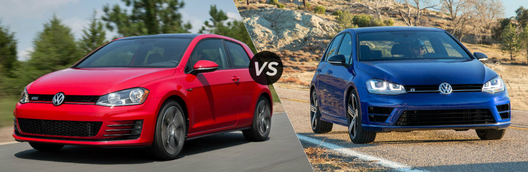 Choosing between the 2016 VW Golf R vs Golf GTI