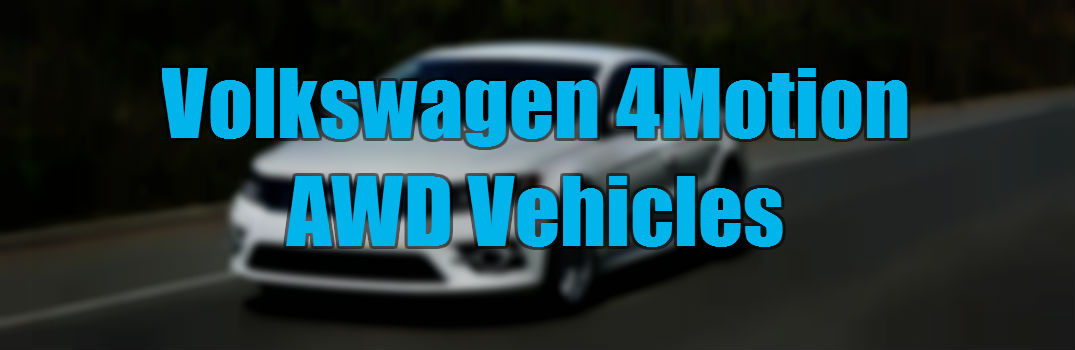 Winter driving with VW AWD 4Motion System