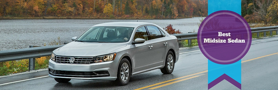 2016 Volkswagen Passat earns the #1 spot for Best Midsize Sedan from Cars.com