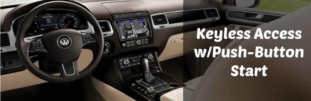 How does VW Keyless Access with Push-Button Start work?