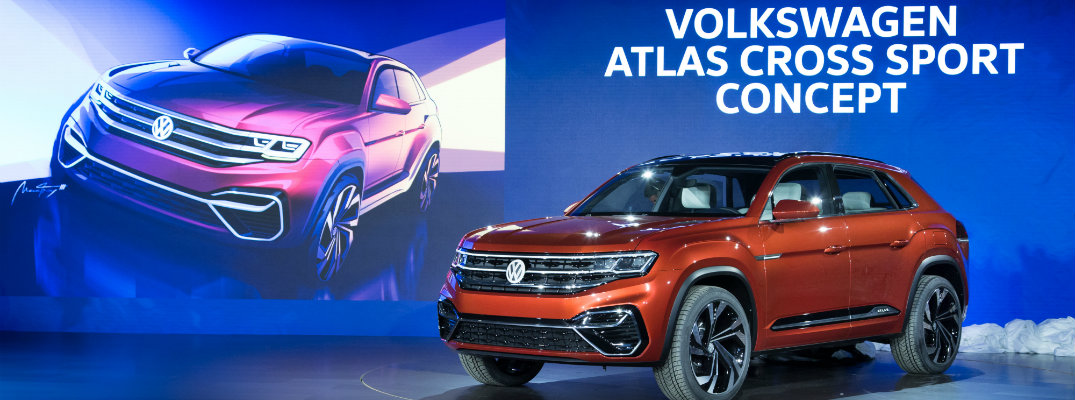 Volkswagen Atlas Cross Sport Concept SUV debut and premiere stage at the new york international auto show