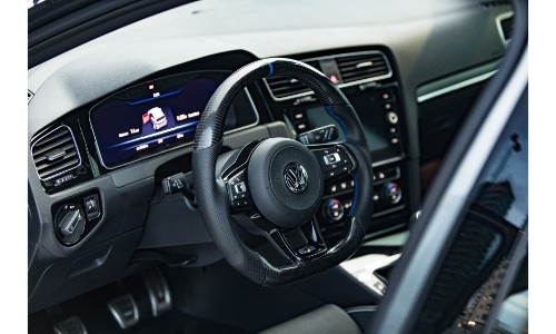 2018 Volkswagen Golf R Abstract Concept Interior Front Seating And Steering Wheel O Garnet