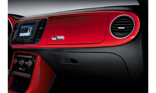 2019 Volkswagen Beetle Interior Shot Of Red Colored And