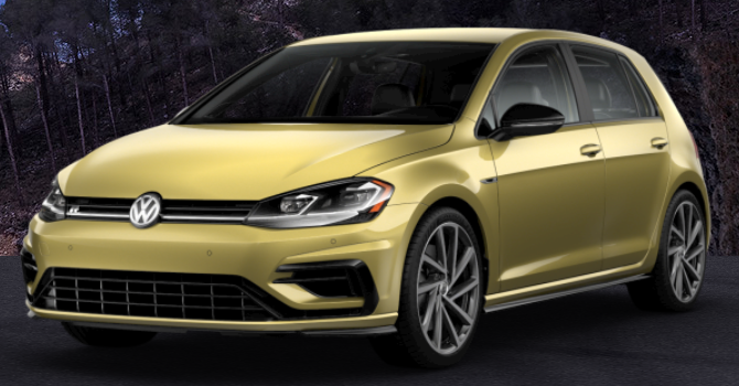 2019 Volkswagen Golf R Futura Yellow Metallic