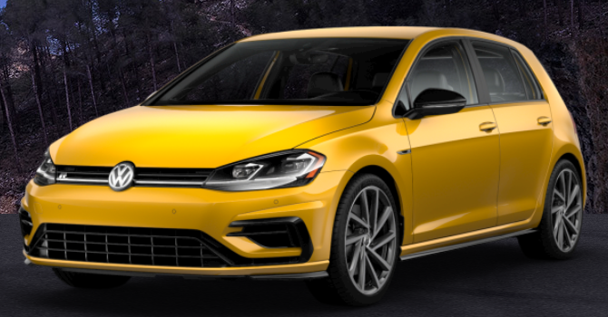 2019 Volkswagen Golf R Ginster Yellow