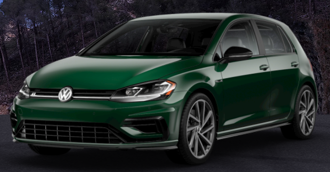 2019 Volkswagen Golf R Irish Green