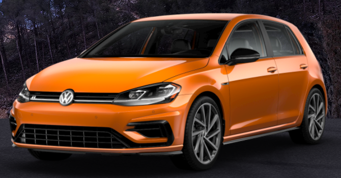 2019 Volkswagen Golf R Magma Orange