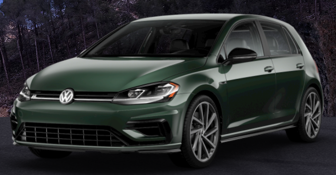 2019 Volkswagen Golf R Moss Green