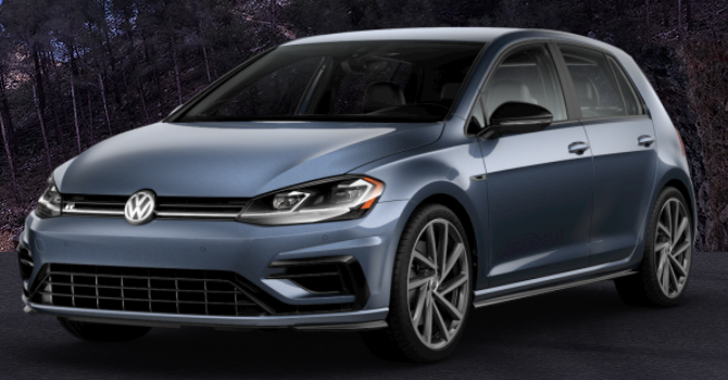 2019 Volkswagen Golf R Prussian Blue Metallic