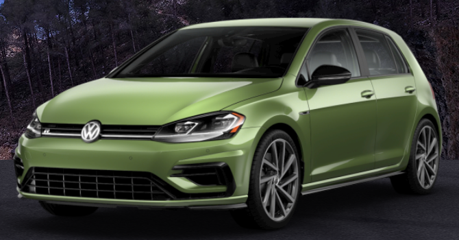 2019 Volkswagen Golf R Reseda Green