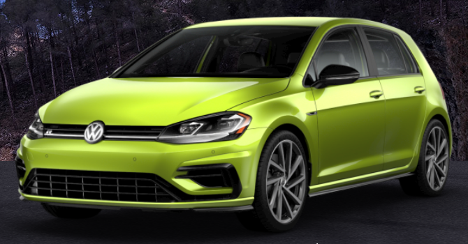 What are the 40+ Color Options of the 2019 VW Golf R Spektrum Program?