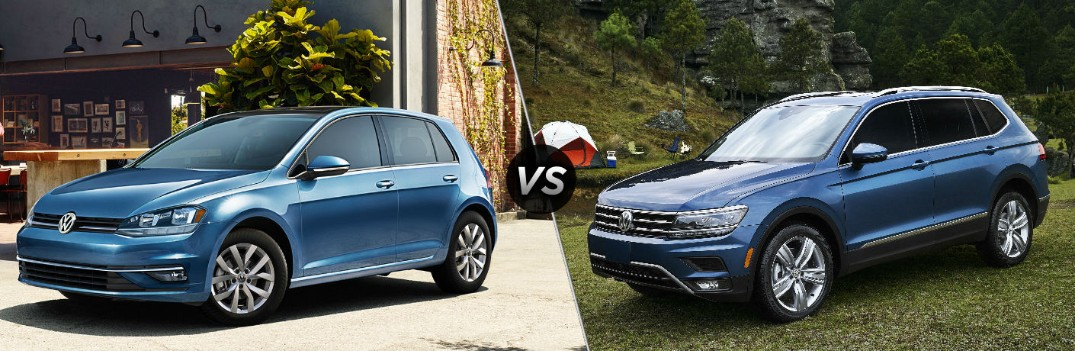 What are the Differences Between the 2019 Volkswagen Golf and Tiguan?