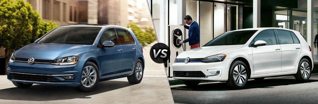 2019 Volkswagen Golf vs 2019 Volkswagen e-Golf