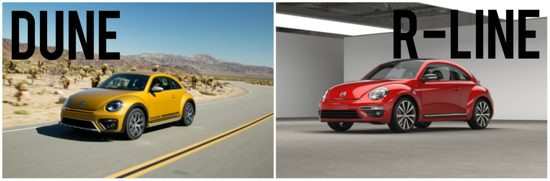 2016 VW Beetle Dune vs 2016 VW Beetle R-Line