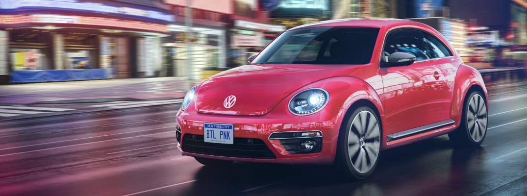 2017 Pink VW Beetle Design Features