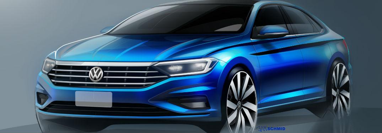 2019 Volkswagen Jetta Front End Design Sketch