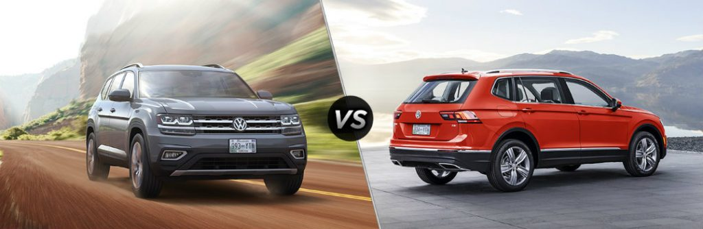 whats  difference    volkswagen atlas  tiguan