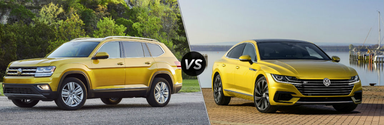 2018 Volkswagen Atlas vs 2019 Volkswagen Arteon