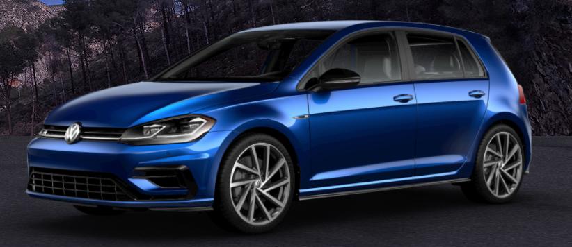 2018 Volkswagen Golf R Paint Color Options