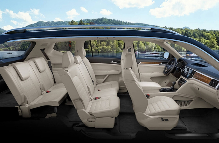 2019 Volkswagen Atlas seats side view